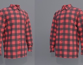 3D Male Button-up shirt