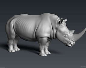 White Rhinoceros - Highpoly Sculpture 3D model