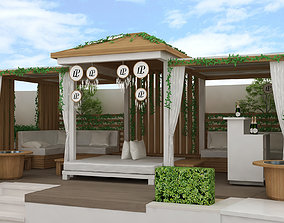 beach side Kiosk pergola design 3D