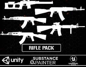 3D asset Rilfe FPS Pack