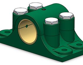 Split fluid bearing 3D printable model