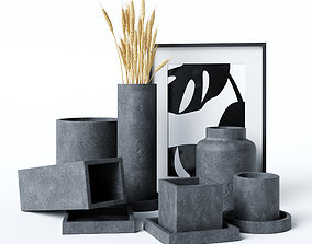 picture 3D Concrete vases and flowerpots