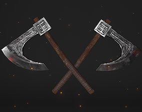 3D model realtime Cult One-Handed Waraxe