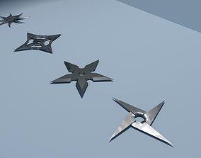 shuriken 3D asset game-ready