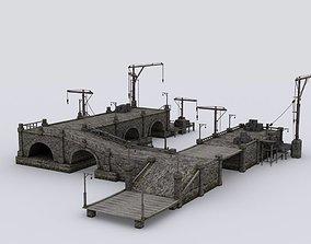Wharf medival 3D asset