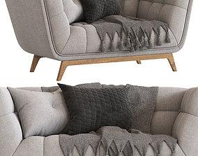 Cult Furniture Magnus 2 Seater Sofa 3D
