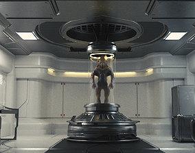 Low poly Sci-fi Modular environment pack 3D asset