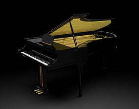 Grand Piano - Gold Plated and Highly reflective Vray 3D
