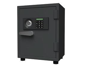 3D model safe box fixture