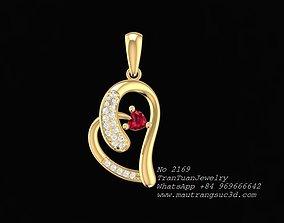 2169 Diamond Heart Pendant new design 3D printable model