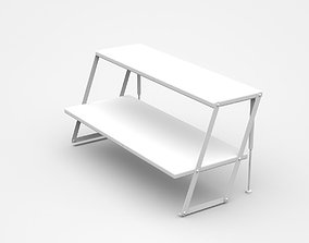 Industrial Double Inclined Shelf 3D