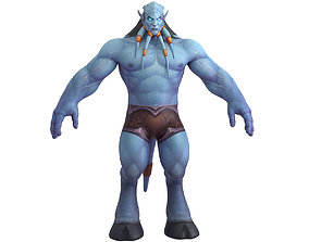 3D asset rigged Draenei Male Full Rig and HumanIK