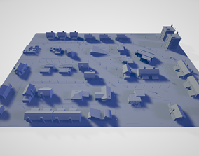 Residential House District Area - 3D Model suburban