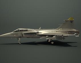Saab company JAS-39 Griffin Gryphon Gripen 3D asset