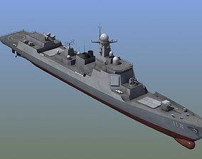 3D Chinese DDG 052D Destroyer