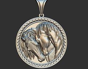 3D printable model Horses in love medal