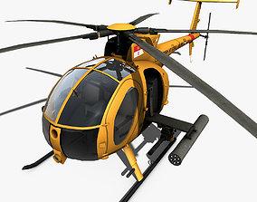 3D model Hughes AH-6 Little Bird