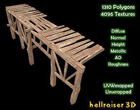 3D model Wooden Platform - Textured