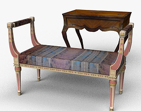 3D asset Chair and Table