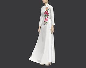 Ao Dai Vietnamese Dress Traditional 3D