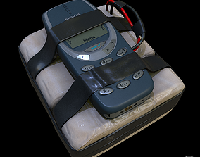improvised explosive device with cellphone 3D asset