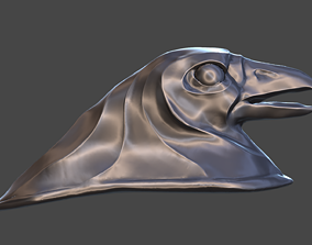 3D print model Head crow on a motorcycle