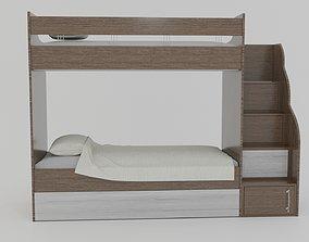 Bunk Bed wood 3D