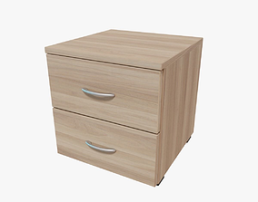 Nightstand 3D asset game-ready