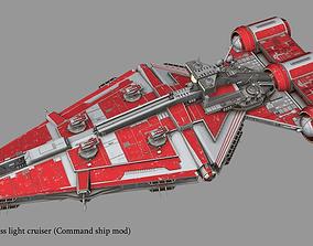 3D Arquitens-class light cruiser from star wars