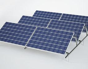 Sun Solar Panels 3D