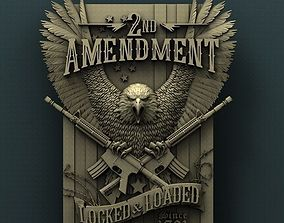 Second amendment 3d stl model for cnc