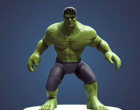 3D rigged Hulk Cartoon