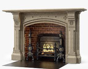 3D model Westland London A Large Yorkstone Gothic Style 1