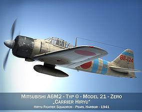 Mitsubishi A6M2 Zero - Carrier Hiryu 3D
