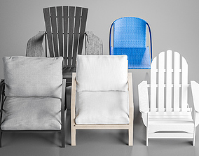 Outdoor Patio Chair Collection 3D
