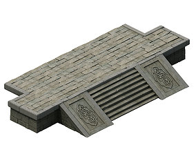Ancient building accessories - front steps 3D model