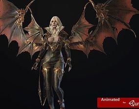 3D model Vampire girl remastered