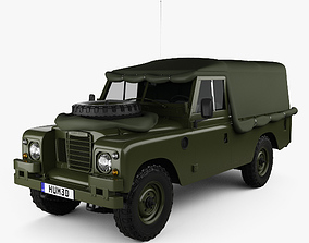 3D model Land Rover Series III LWB Military FFR 1985