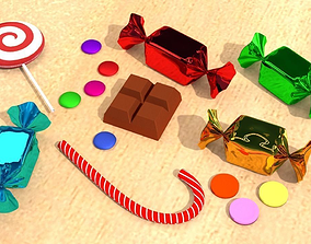 chocolate 3D model Candy