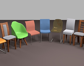 3D model Pack of chairs