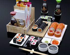 3D model Sushi set sushi