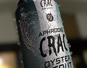 3D model 16OZ Beer Can with CRV Engraving Condensation 2