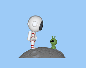 3D printable model A cute Astronaut and Alien to 2