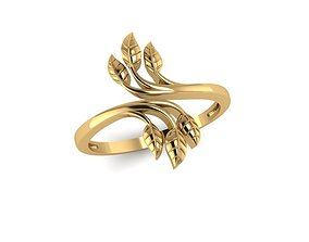 3D print model decoration leaf rings
