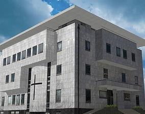 Modern religious building 3D asset