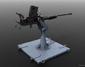 Type 96 - 25mm AT-AA Japanese single gun 3D model