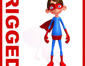 Superhero Cartoon Rigged 3D