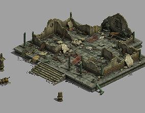 Building - house ruins 3D