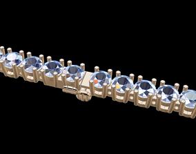 3D print model Diamond Tennis Bracelet 4MM