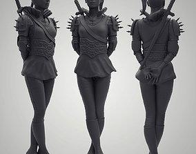 Knight Woman 3D print model